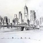 New York encre et mine de plomb