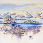 superposition de paysages à Marseille - pastel-50x70